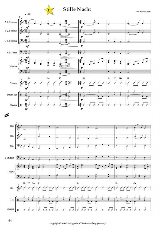 Weihnachtslieder Ausdrucken.Blasorchester Die 21 Schönsten Weihnachtslieder Musikverlag Raisch